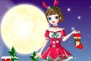 Lovely kizi Christmas girl