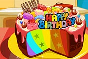 Rainbow y8 cake