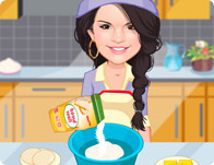 Selena Gomez kizi cooking cookies